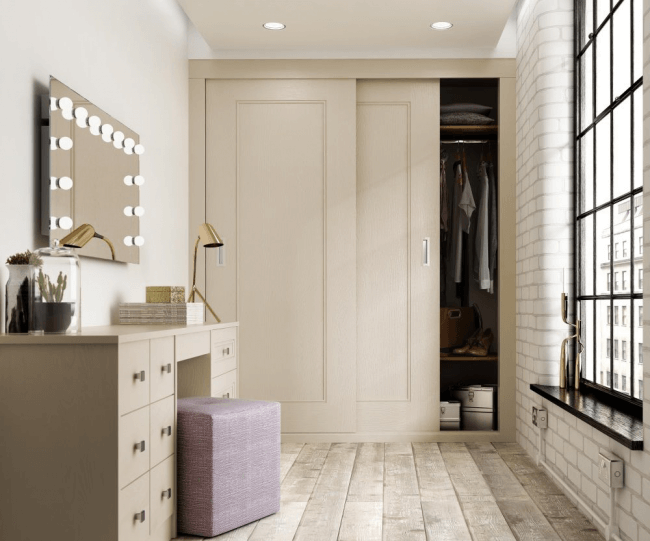 Spacious practical furniture is perfect for the hallway