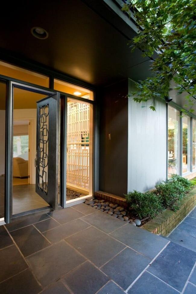 Steel door with glass looks very nice