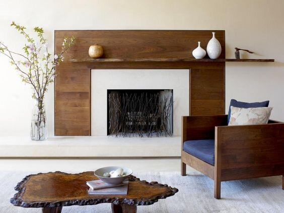 Thin Floating Timber Shelf