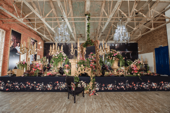 Wedding showcase - creating a fantastic space from artificial elements