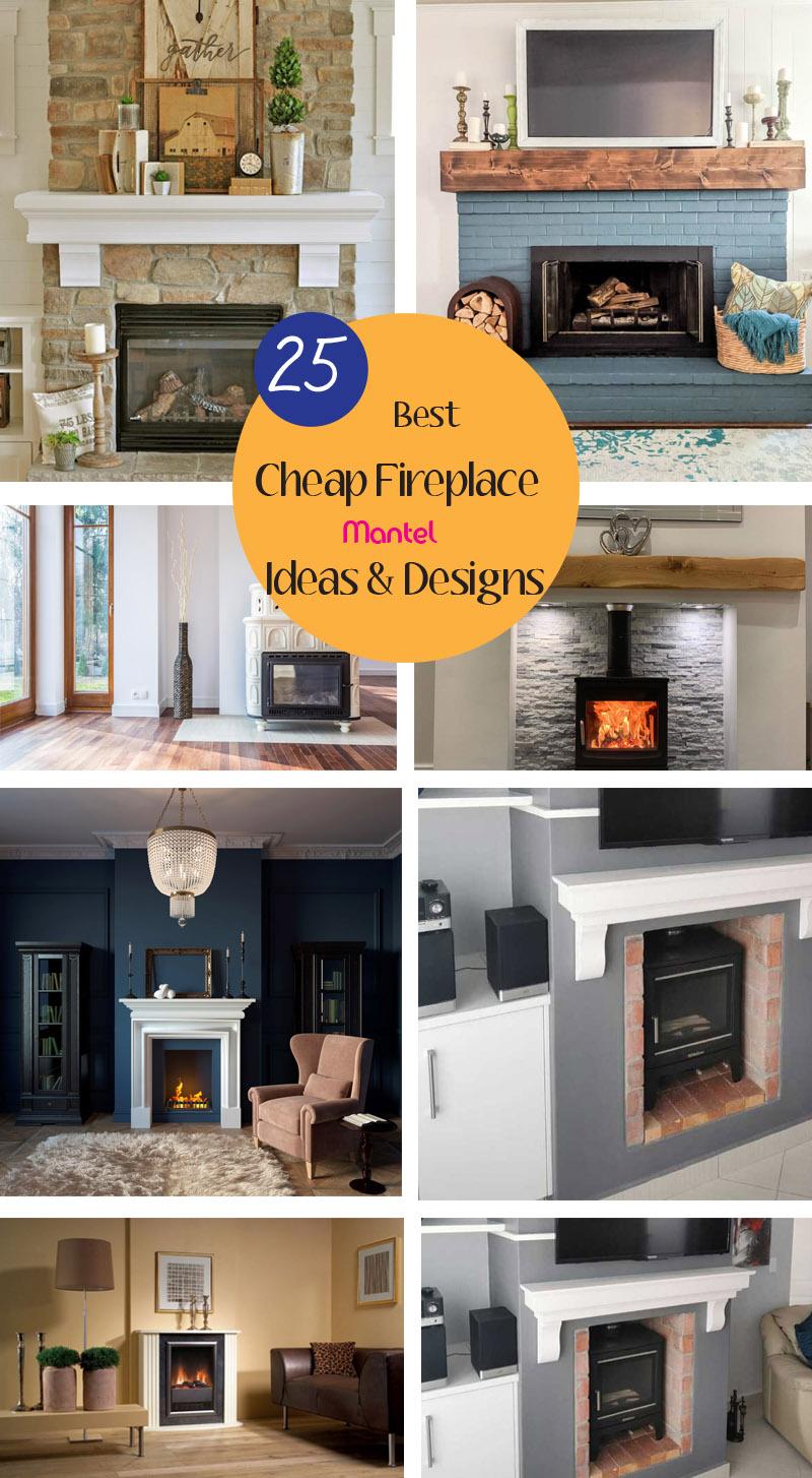 best cheap fireplace mantel ideas
