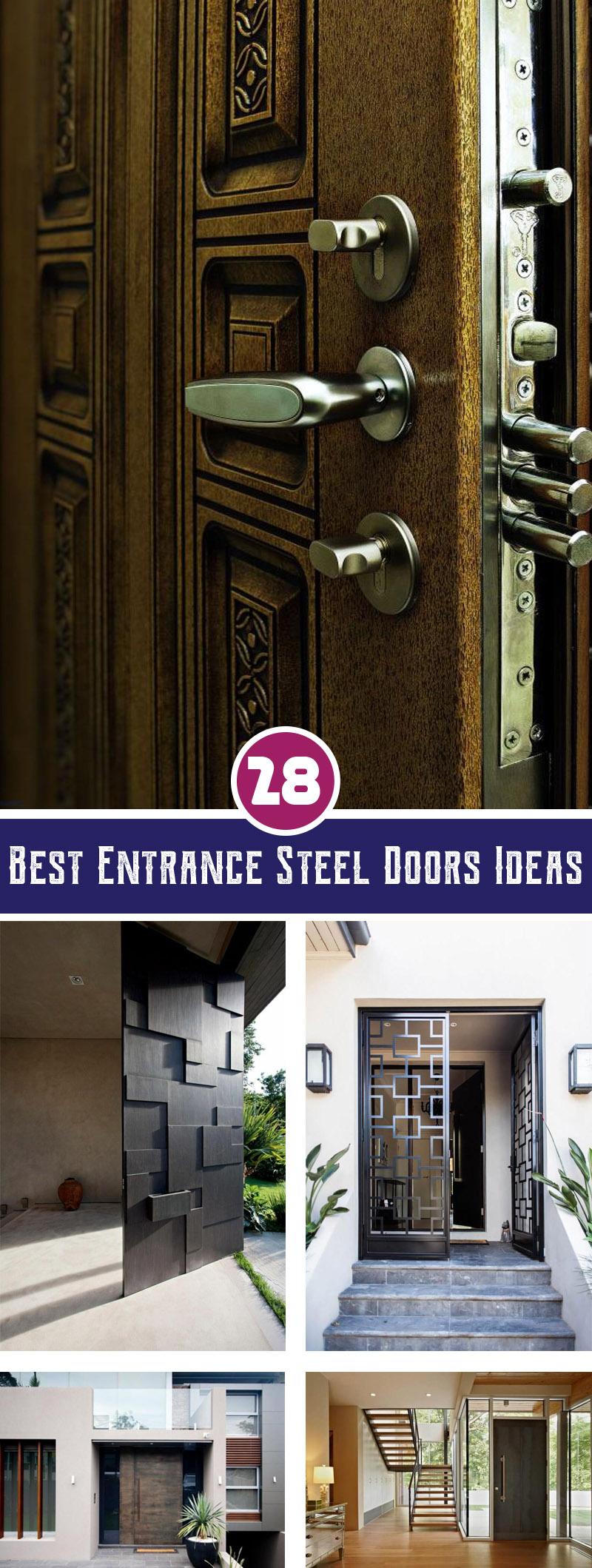 best entrance steel doors ideas