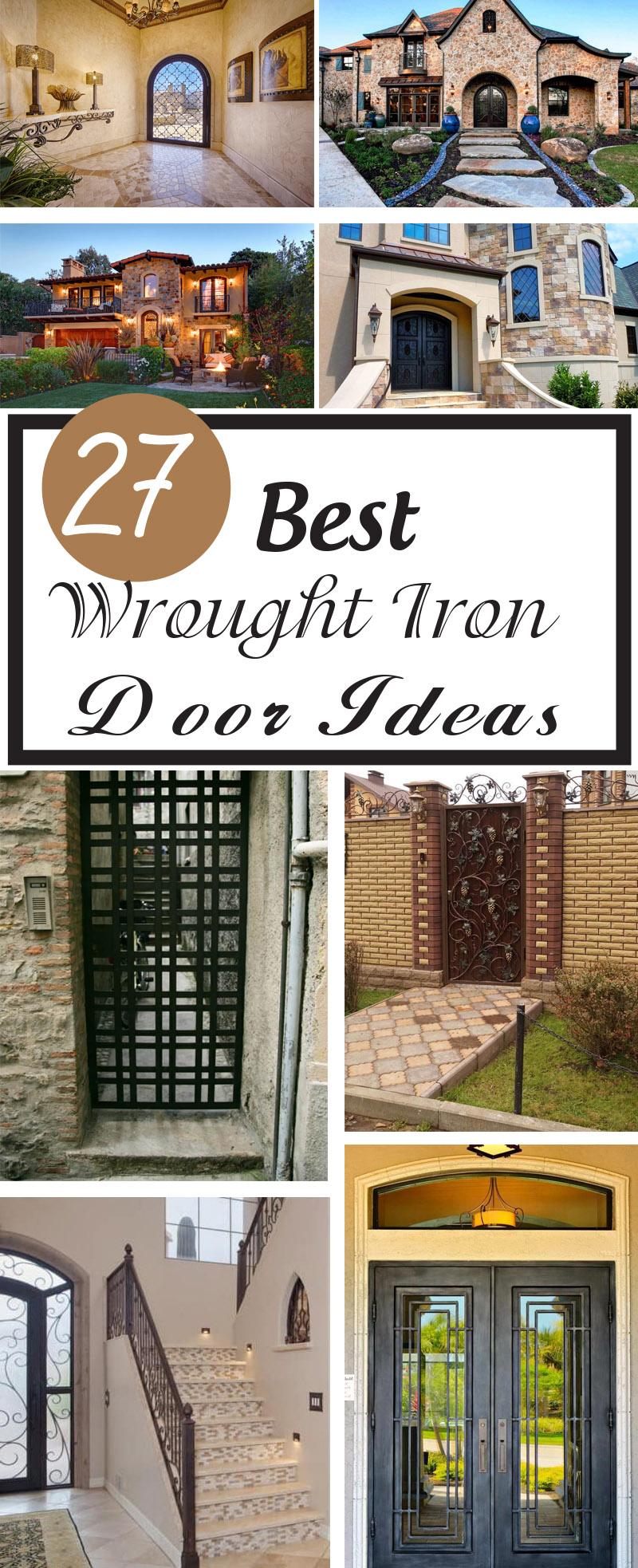 best wrought iron door ideas