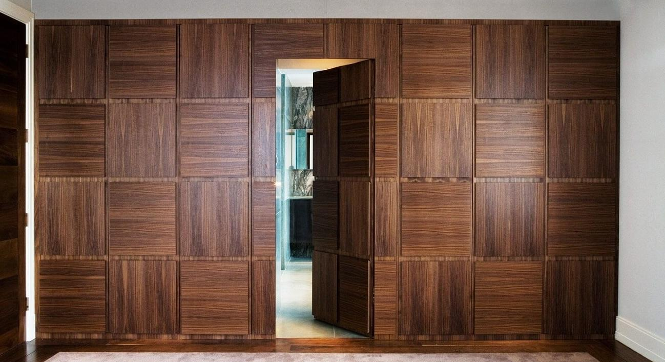 concealed wall door design