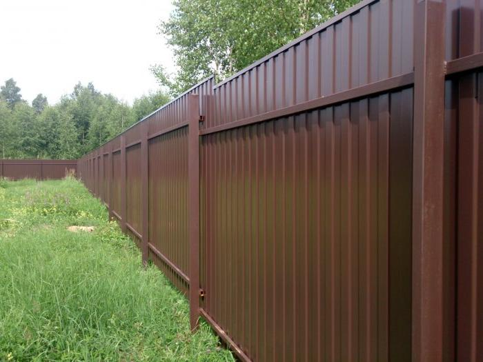 corrugated board fence