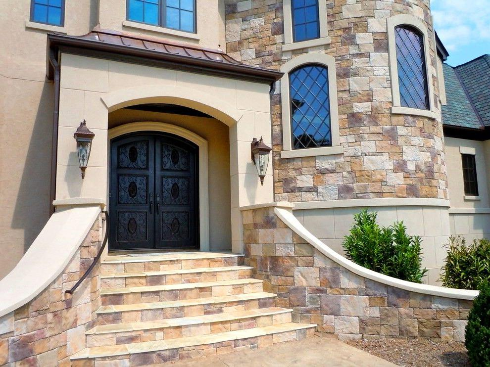 modern wrought iron doors