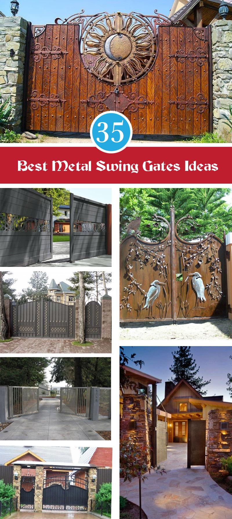 35 best metal swing gates ideas