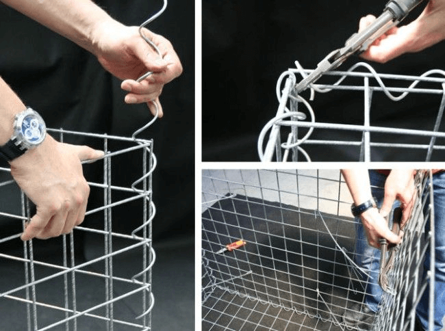 A step-by-step guide to making mesh baskets for gabion fences