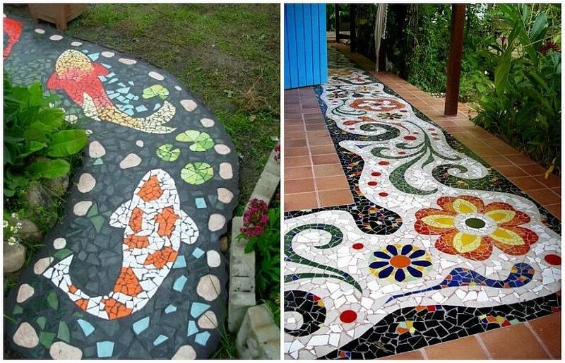 A tile walkway can be stunningly beautiful