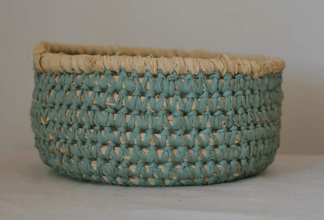 Basket of paper twine