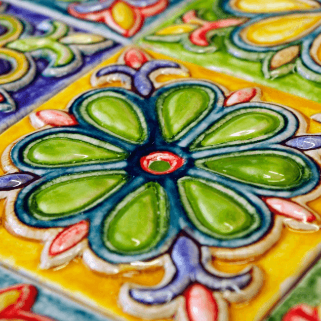Beautiful colored glaze