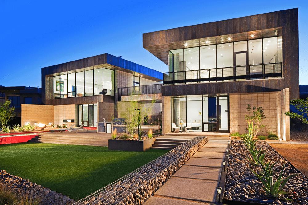 Beautiful landscape design of a country estate