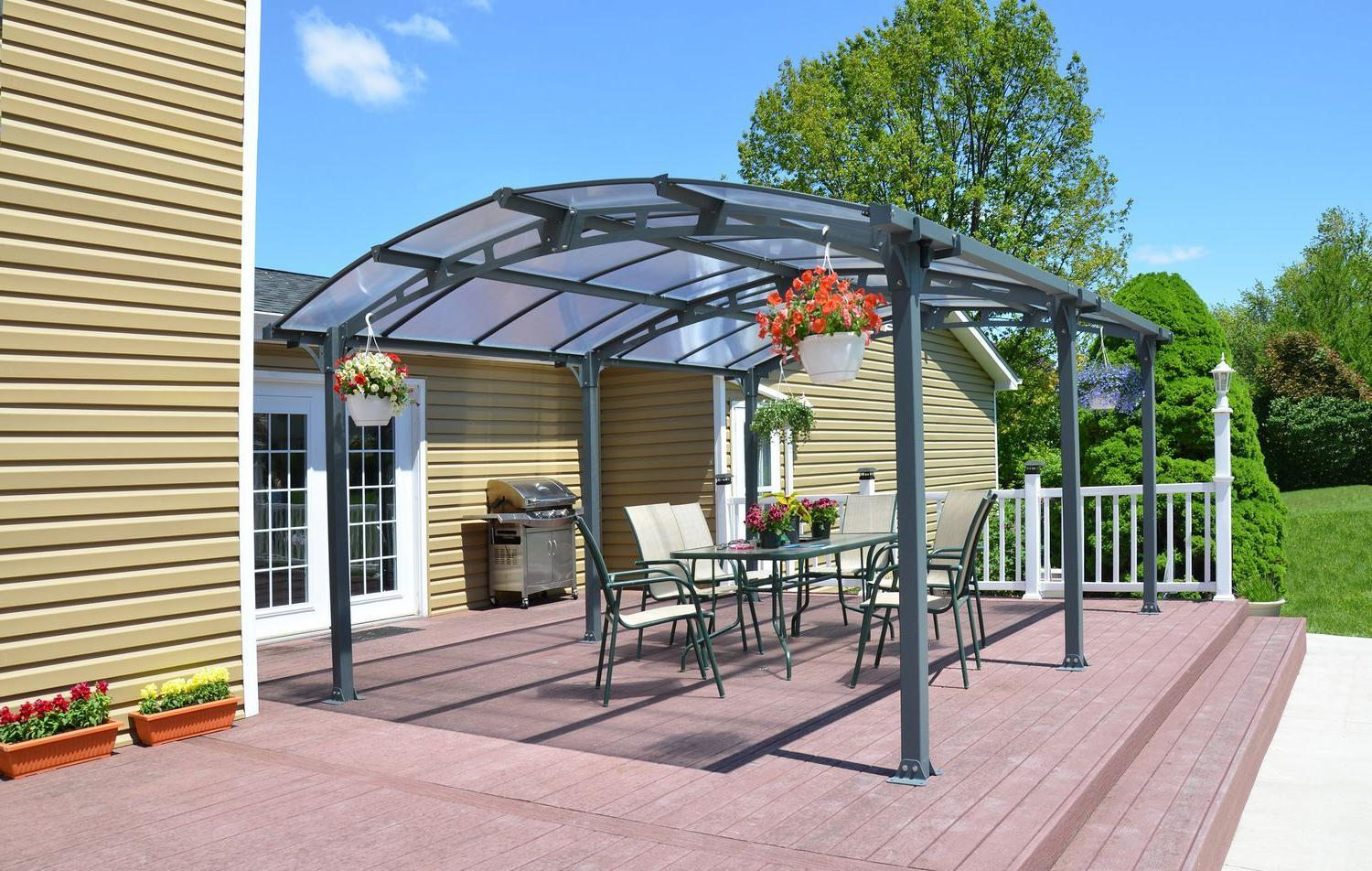 Crystal color polycarbonate roofs
