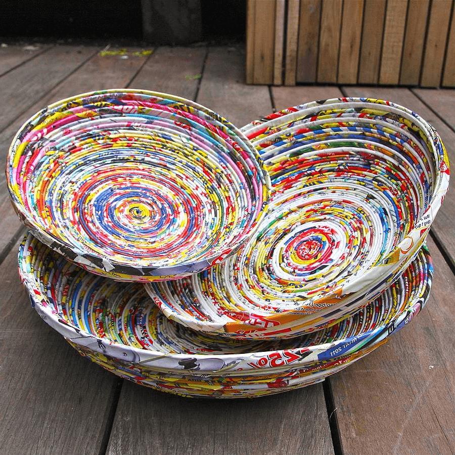 DIY affordable weaving baskets