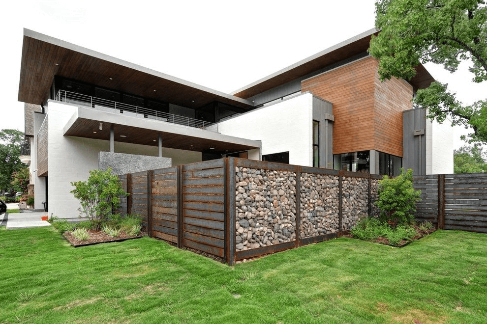 Luxury villa with rustic industrial design