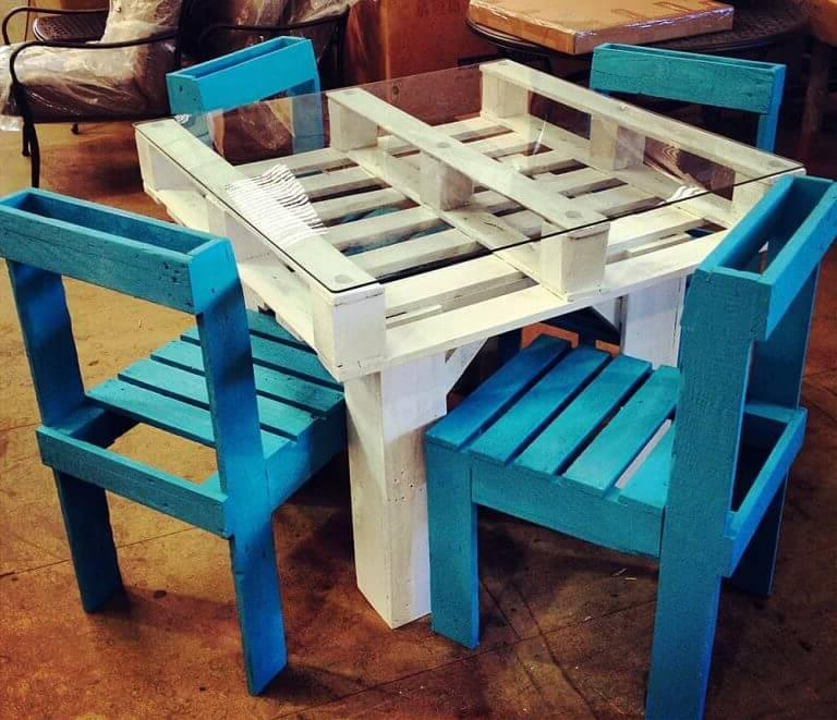 Outdoor pallet furniture is a great opportunity to save a significant amount of money