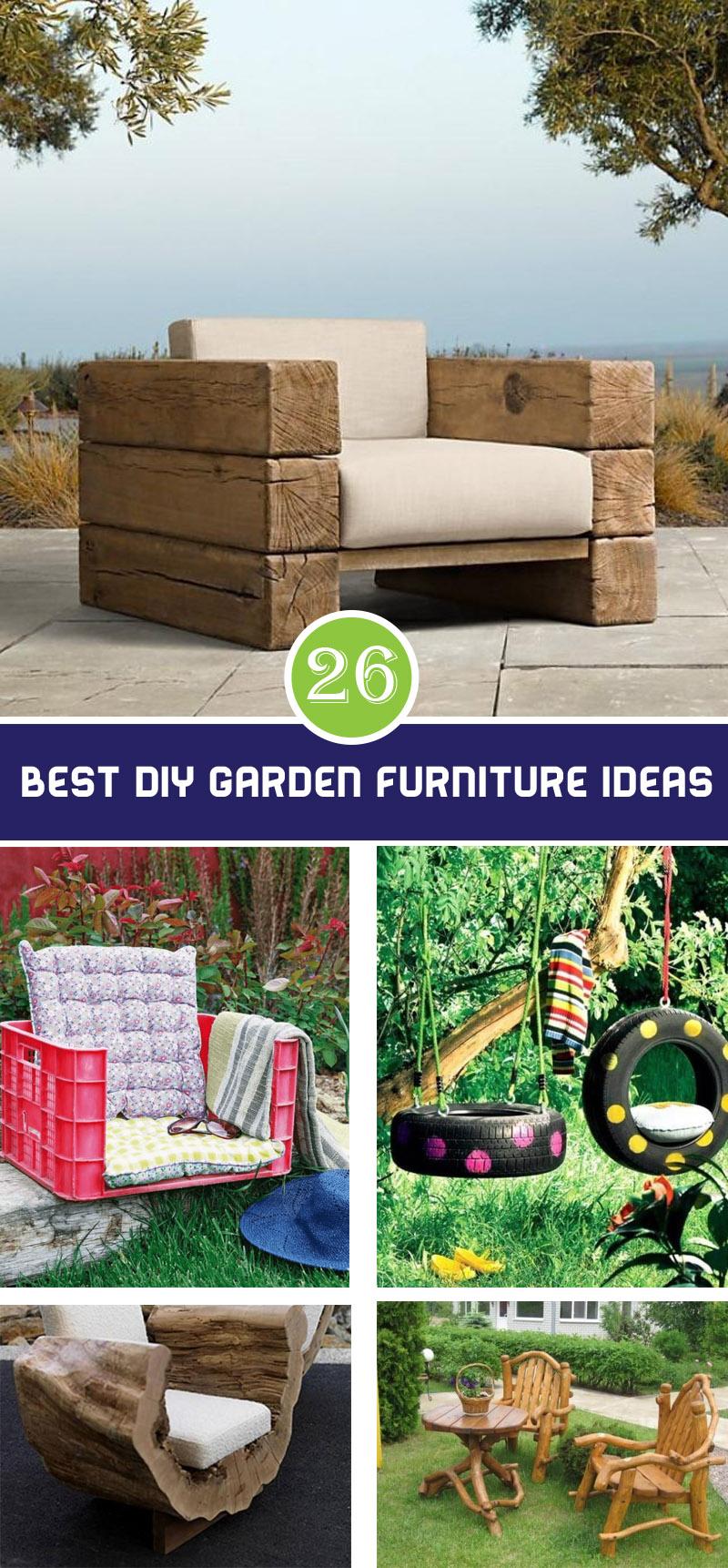 best diy garden furniture ideas
