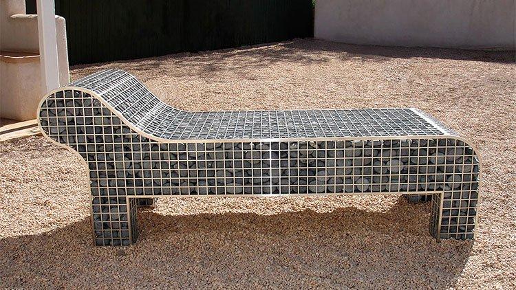 creative gabion bench