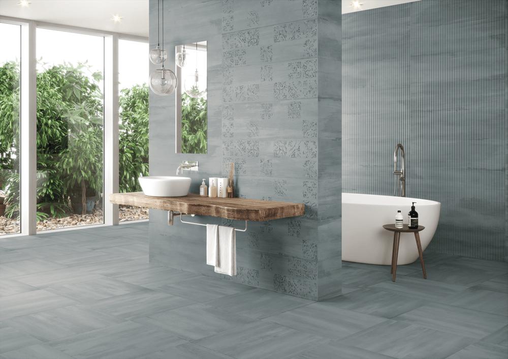 glazed ceramic floor tiles