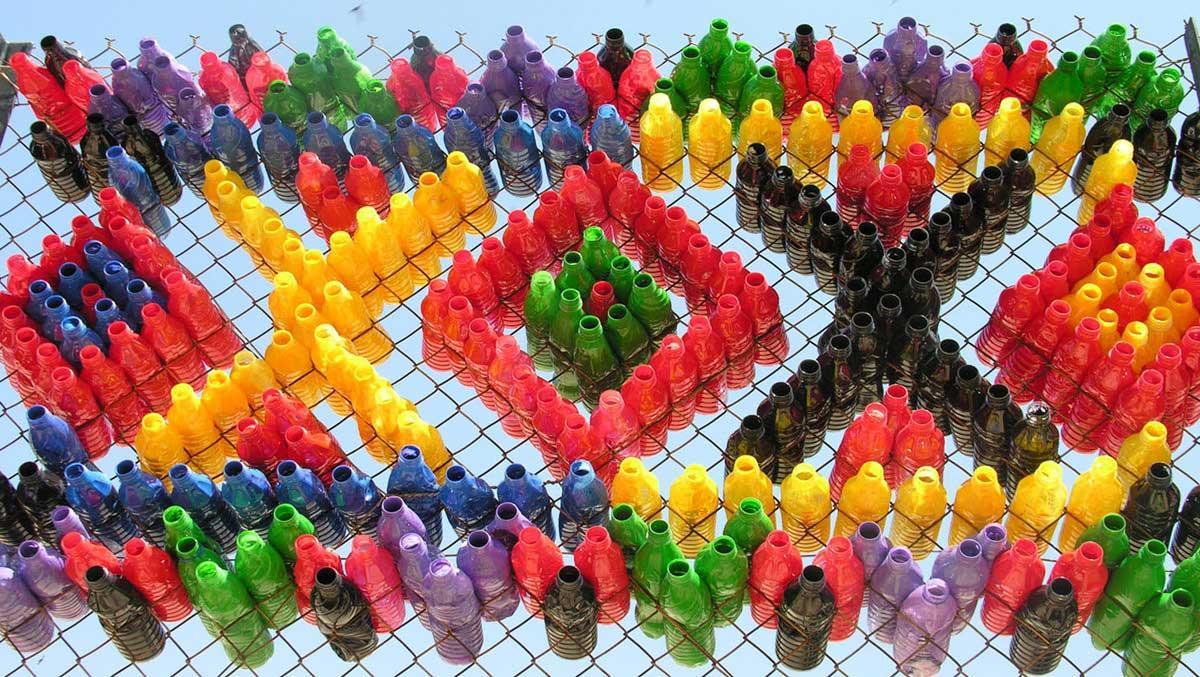 plastic bottle fencing