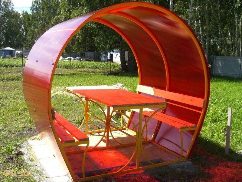 round polycarbonate gazebo