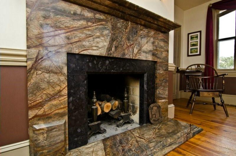 Immense Granite Fireplace