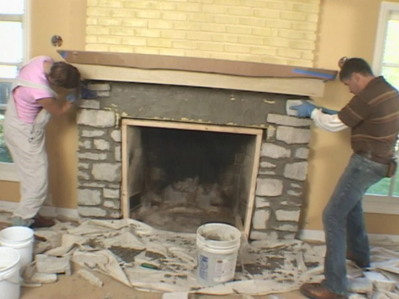 Installing a Stone Faced Mantel