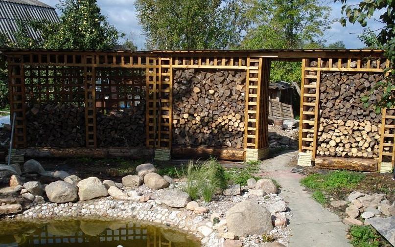 Practical log fence