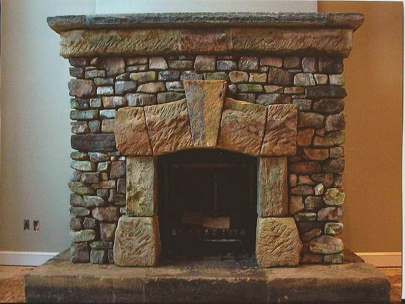 Rustic Cottage Style Fireplace