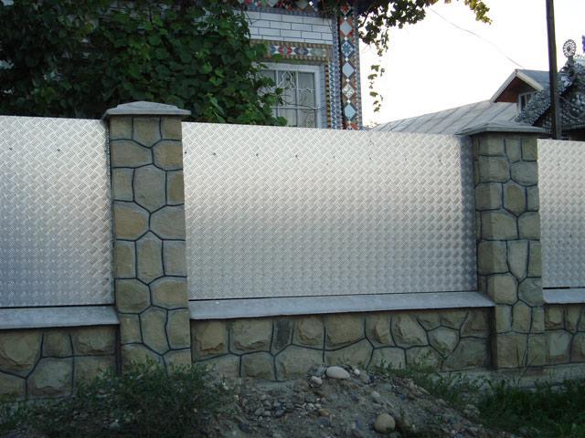 aluminum sheet fence