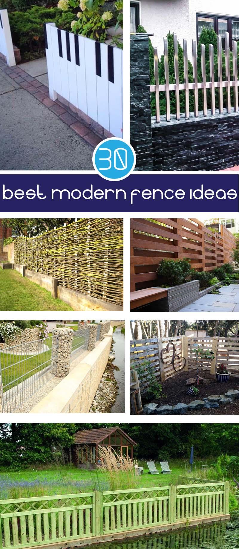 best modern fence ideas