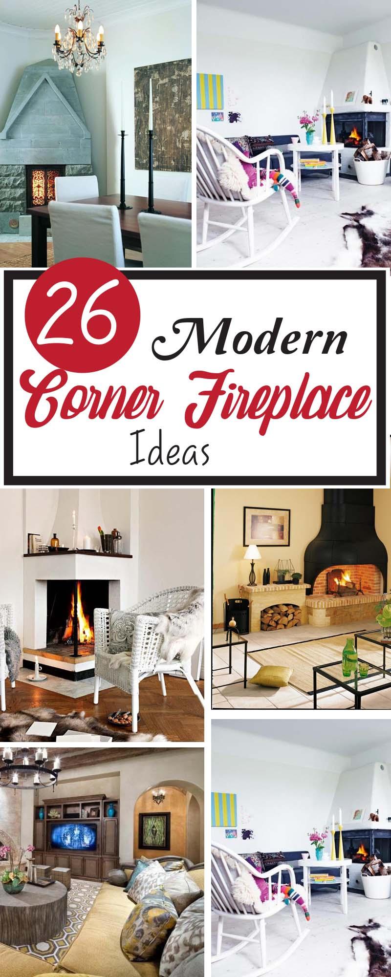 modern corner fireplaces ideas