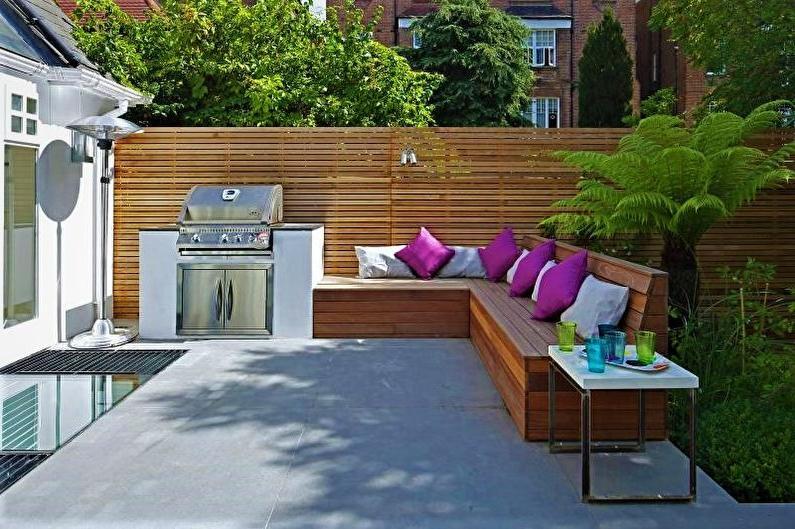 modern front yard fence