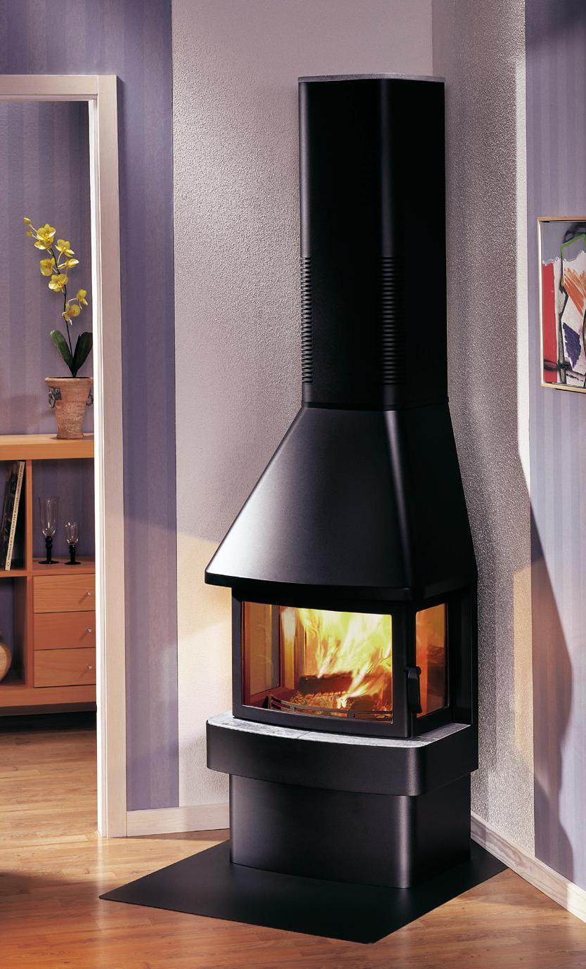 rectangular fireplace stove